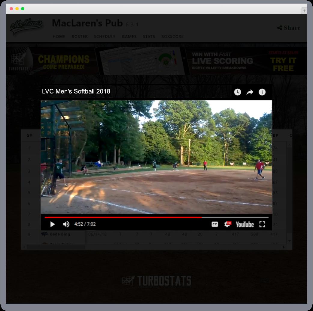 Baseball Softball Statistics Live Scoring Software App